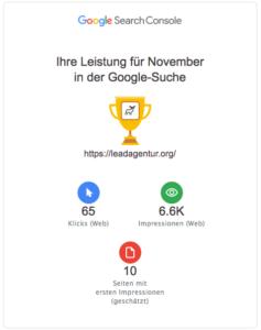Bericht aus der Google Search Console